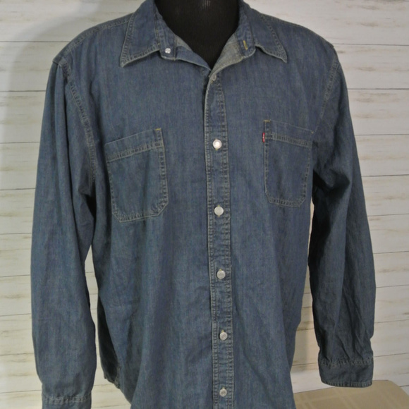 55699446611 Levi s Other - LEVIS XXL 2XL Mens METAL Button Shirt Jean Denim